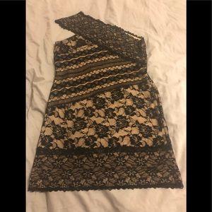 Arden B side shoulder dress.